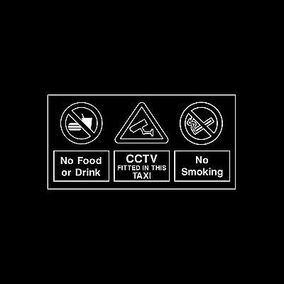 No Food or Drink / CCTV in Operation - Window Sticker - All Sizes - MISC91