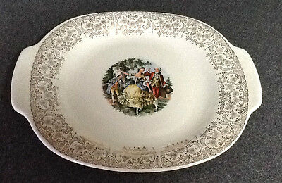 TRIUMPH~~AMERICAN LIMOGES~~CHANTILLY~~LARGE PLATTER with DOUBLE HANDLES