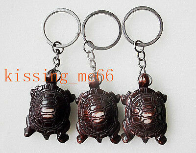 10Pcs Big Cute Animal Turtle Resin Keychain Key Rings Wholesale Fashion Jewelry