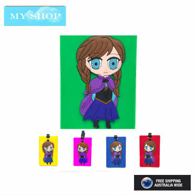 Disney Frozen Anna  Name Tag, Id Lable For Luggage, Suitcase, School Bag