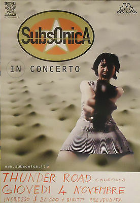 "Subsonica : Manifesto ""microchip Emozionale"" Tour 1999"