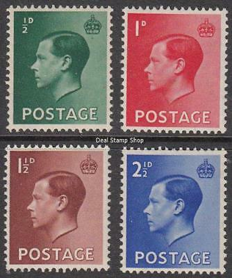 GB 1936 Edward VIII Definitive Set of 4 SG457 - 460 Unmounted Mint
