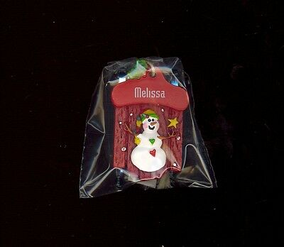 Ganz Snowman Sleigh Sled Ornament Personalized /'JUSTIN/'  Stocking Stuffer NWT