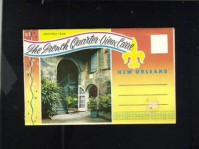 POSTCARD FOLDOUT THE FRENCH QUARTER NEW ORLEANS