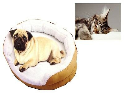 Electric Heated Fluffy Cosy Padded Pet Bed Thermostat Washable Warm Dog Cat Heat