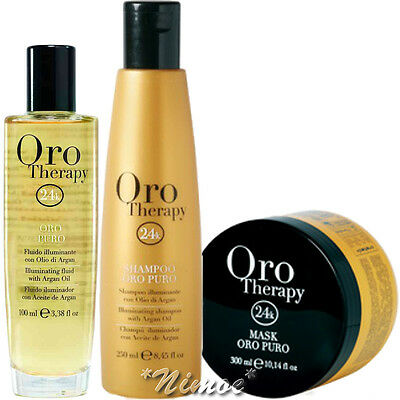 Oro Puro Therapy Luxury Hair Treatment Kit ® 24k Gold Fluid + Shampoo + Mask