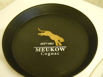 Meukow Cognac  Round Plastic Serving Bar Tray 13""