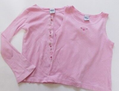 6y fitted 5y OSH KOSH girls designer pink summer twin set top & cardigan outfit