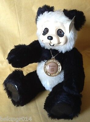 Robert Raikes Fenlan Wood Sculpted Panda Bear Numbered and Signed