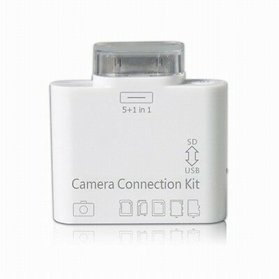 USB MS TF SD 5 in 1 camera connection kit card reader for Apple iPad 1 & ipad 2