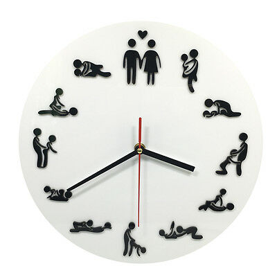 11inch Sexual Position Clock / 24Hours Sex Clock / Novelty Adult Only Wall Clock