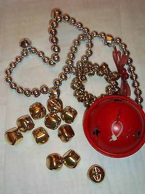 "Lot of assorted Christmas Jingle Bells ~ One is 3"" dia"