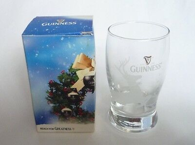GUINNESS STOUT Beer CHRISTMAS Shot GLASS Malaysia REINDEER 2010 Smoothness 4""