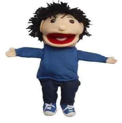 """Puppet boy, norton 15"""" Ventriloquist.Play,Educational.Moving mouth &hands"""