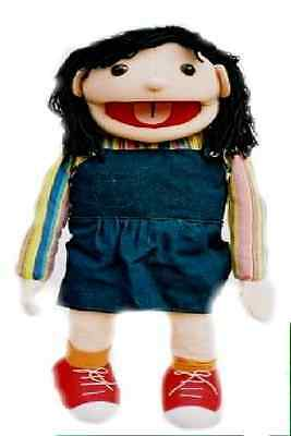 Giant girl Puppet, sarah Ventriloquist.Play,Educational.Moving mouth and arm rod