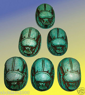 Mixed LOT of 12 Egyptian Pharaonic Scarab , Top quality hand-Made Scarab