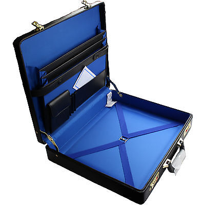 Masonic Regalia Case Master Mason Size - Simulated Leather with FREE NAME PLATE