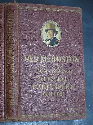 1949  ~ OLD MR. BOSTON ~ DE LUXE OFFICIAL BARTENDER'S GUIDE