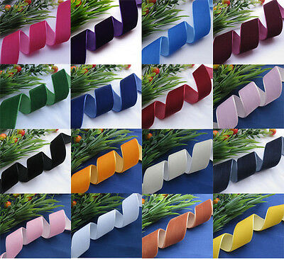 25/38mm Velvet Ribbon DIY craft Wedding/Appliques/Sewing Lots color size Upick