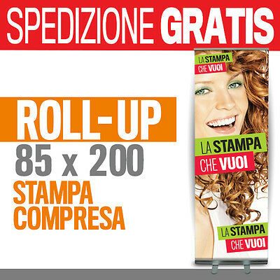 ROLL UP BANNER display espositore rollup autovvolgente roller banner pvc 100305
