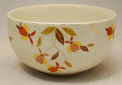 """Hall Superior China AUTUMN LEAF Round  Mixing Bowl Imperfect 6 1/4"""" x 3 1/2"""""""