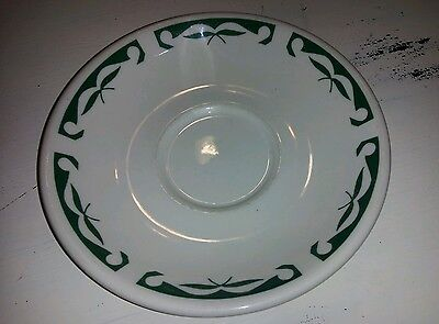 VINTAGE Homer Laughlin Best China USA White with Green saucer va iiii