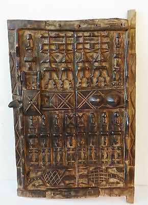 "Dogon Door with Figures Mali African 24""h by 16.5"" w    # 10"