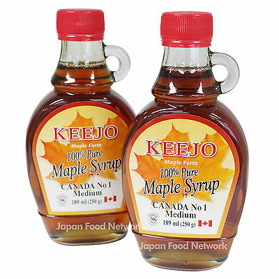 100% KEEJO Pure Maple Syrup 189ml (250g) X 2 bottles