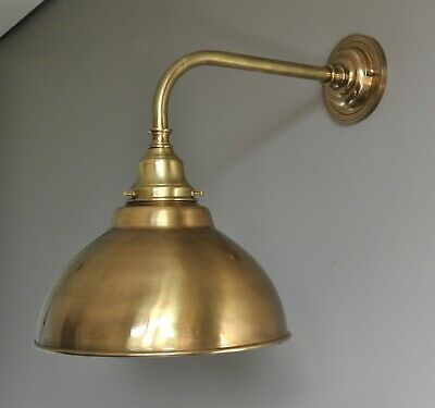 MAGILL-WALL LIGHT BRACKET-OLD BRASS-french italian style-industrial-SOLID-cafe