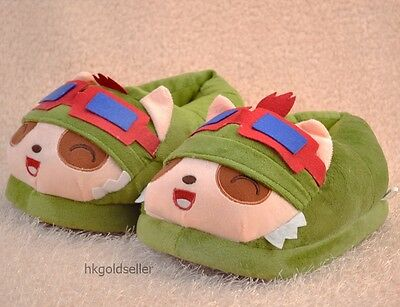 League of Legends LOL Teemo Warm shoes Cotton Padded shoes Free Shipping