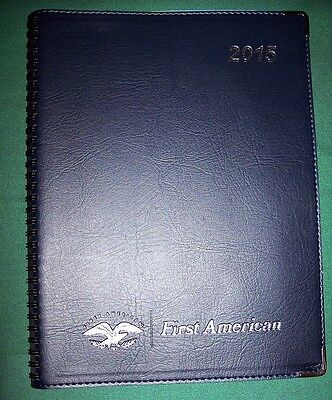 2015 Executive American Appointment Planner Organizer Silver Blue SHIPS NOW
