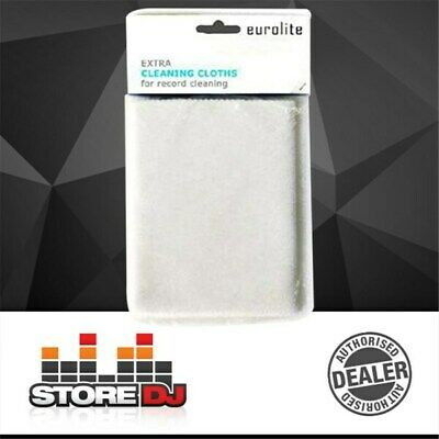 Eurolite Cleaning Cloths for Vinyl Records (10-Pack)