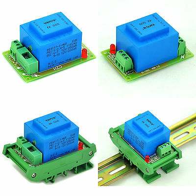 Power Transformer Module,P 115V/230VAC, S 12~36VAC, 5VA, DIN Rail/Panel Mount