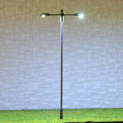 20 pcs HO/OO gauge Lamp LEDs made Model Lamppost height adjustable Light #SD100D
