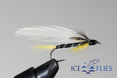 ICE FLIES. Streamer fly, Black Ghost.Size 2, 4, 6, 8 and 10 (3-pack)