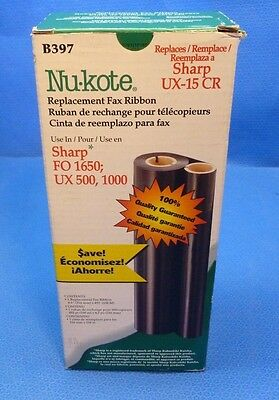 Nu-Kote Sharp # Ux-15 Cr, Model # B397,replacement Fax Ribbon