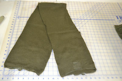 scarf neckwear mans wool OG 208 military USGI tube style army green good used