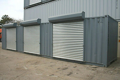 8' x 40' Storage Container with 3 rollup doors