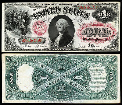 Nice Looking Crisp Unc. 1878 $1.00  Red Seal Copy