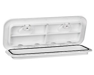 Excellent WHITE 607mm x 243mm ACCESS HATCH & LID-Boat/Marine/Caravan/RV/Storage