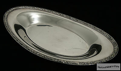 Rare Oneida Maybrook Silver Plated Vintage Oval Bread Serving Tray (#721)