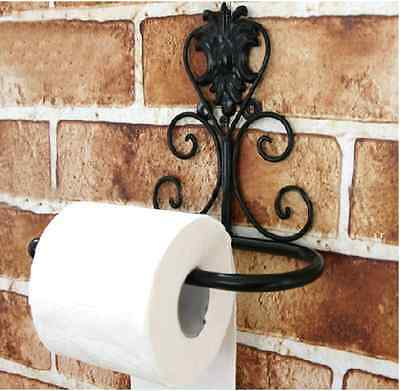 Antique Style Victorian European Toilet Paper Holder Iron Vintage Diy Stylish