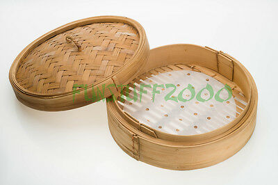 Dim Sum Parchment Paper Liner for Chinese Bamboo Steamer Basket Cooker