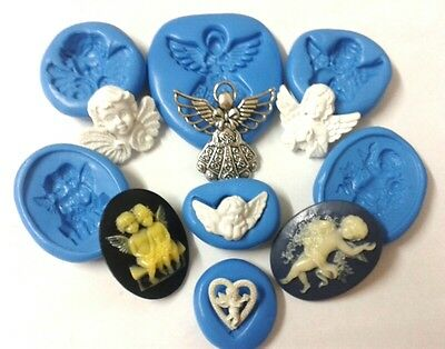 Silicone Angel Mould Cherubs Sugarpaste Chocolate Icing Sugarcraft Cake Decorate