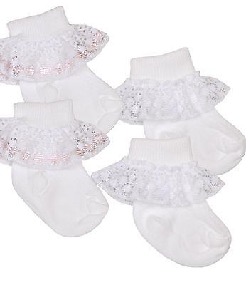 BabyPrem Baby Girls Frilly Lacy Ankle Socks for Premature Early Tiny Babies