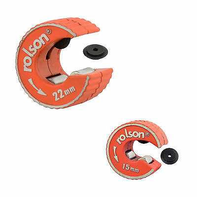 Rolson 15mm 22mm Rotary Copper Pipe Tube Cutter Self Locking Spare Slicer Wheel