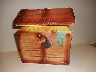1950's Treasure Chest Cookie Jar - American Bisque Usa