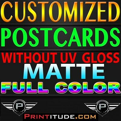 "5000 POSTCARDS 3"" x 5"" FULL COLOR MATTE 2 SIDED 3X5 CUSTOM PRINTED + FREE Design"