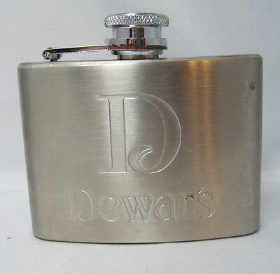 Dewar's Stainless Steel Whiskey Flask 4oz New