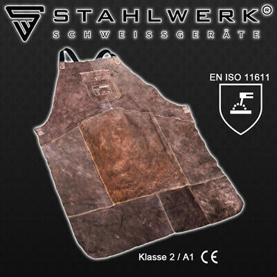 WELDING PROTECTIVE APRON from DURABLE LEATHER for Welders TIG / MIG / PLASMA